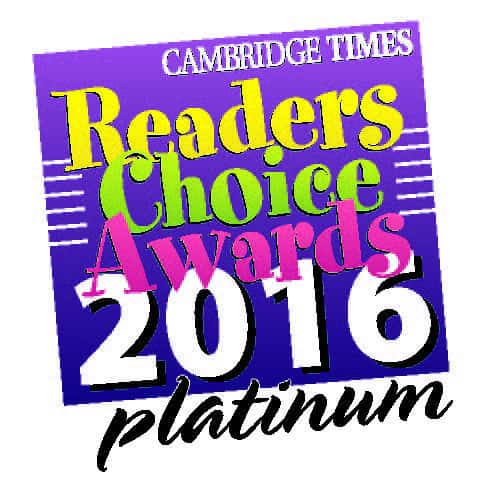 2016 Cambridge Times Readers Choice Awards - Platinum
