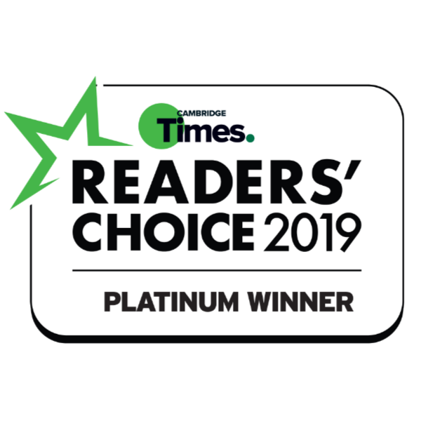 2019 Cambridge Times Readers Choice Awards - Platinum